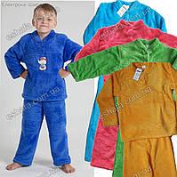 Детская махровая пижама унисекс 7-8 лет