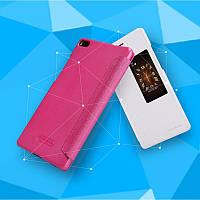 Кожаный чехол-книжка Nillkin Sparkle для Huawei Ascend P8 белый
