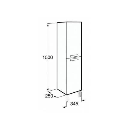 Пенал 150 см, серый антрацит ROCA DEBBA (A856844153), фото 2