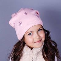 Детская шапка двойной вязки.
