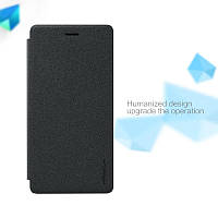 Кожаный чехол-книжка Nillkin Sparkle для Huawei P8 Lite черный