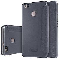 Кожаный чехол-книжка Nillkin Sparkle для Huawei P9 Lite черный