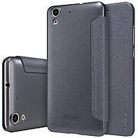 Кожаный чехол-книжка Nillkin Sparkle для Huawei Y6 II черный