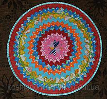 Тканинний килимок. круглий