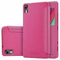 Кожаный чехол-книжка Nillkin Sparkle для Lenovo Vibe Shot Z90 розовый