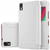 Кожаный чехол-книжка Nillkin Sparkle для Lenovo Vibe Shot Z90 белый