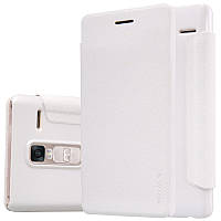 Кожаный чехол-книжка Nillkin Sparkle для LG H650E Zero / Class белый