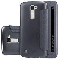 Кожаный чехол-книжка Nillkin Sparkle для LG K10 K410/K430DS черный