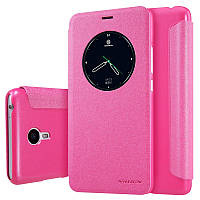 Кожаный чехол-книжка Nillkin Sparkle для Meizu M3 Note розовый