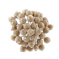 Сахарные ягоды Золотые 12 мм пучок 20 шт (40 ягодок)