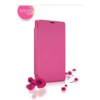 Кожаный чехол-книжка Nillkin Sparkle для Microsoft Lumia 435 Dual Sim розовый