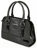 Женская сумка каркасная красивая с лаковой вставкой 60