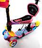 Самокат детский Scooter Утенок 5 in 1 сидушка корзинка родительская ручка плавающее колесо  Розовый (2T1030/WL/PK), фото 2