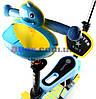 Самокат детский Scooter Утенок 5 in 1 сидушка корзинка родительская ручка плавающее колесо  Голубой (2T1030/WL/BL), фото 3