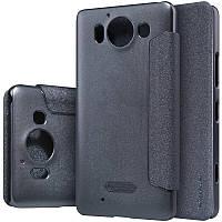 Кожаный чехол-книжка Nillkin Sparkle для Microsoft Lumia 950 черный