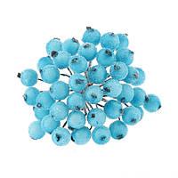 Сахарные ягодки голубые 12 мм пучок 20 шт (40 ягодок), фото 1