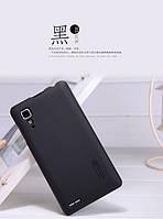 Чехол бампер и пленка Nillkin Super Frosted Shield для телефона смартфона Lenovo P780  black черный