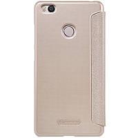 Кожаный чехол-книжка Nillkin Sparkle для Xiaomi Mi 4s золотой