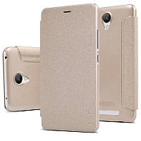 Кожаный чехол-книжка Nillkin Sparkle для Xiaomi Redmi Note 2 / Redmi Note 2 Prime золотой