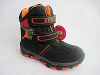 Детские зимние термо-ботинки (сноубутсы) для мальчика, р. 27 - 17,5 см