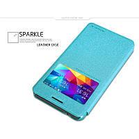 Кожаный чехол-книжка Nillkin Sparkle для Samsung G530H/G531H Galaxy Grand Prime бирюзовый