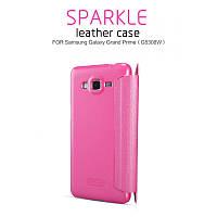 Кожаный чехол-книжка Nillkin Sparkle для Samsung G530H/G531H Galaxy Grand Prime розовый