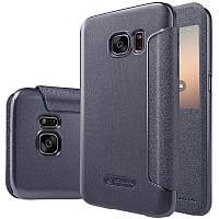 Кожаный чехол-книжка Nillkin Sparkle для Samsung G930F Galaxy S7 черный