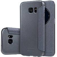 Кожаный чехол-книжка Nillkin Sparkle для Samsung G935F Galaxy S7 Edge черный