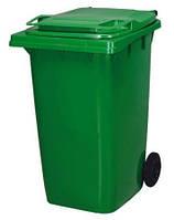 Бак для мусора 360л зеленый