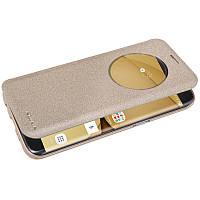 Кожаный чехол-книжка Nillkin Sparkle для Samsung G935F Galaxy S7 Edge  золотой