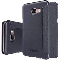 Кожаный чехол-книжка Nillkin Sparkle для Samsung Galaxy C5 черный