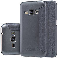 Кожаный чехол-книжка Nillkin Sparkle для Samsung J120F Galaxy J1 (2016) черный