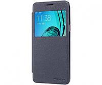 Кожаный чехол-книжка Nillkin Sparkle для Samsung J320F Galaxy J3 (2016) черный