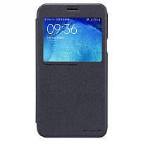 Кожаный чехол-книжка Nillkin Sparkle для Samsung J500H Galaxy J5 черный
