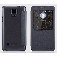 Кожаный чехол-книжка Nillkin Sparkle для Samsung N910H Galaxy Note 4 черный