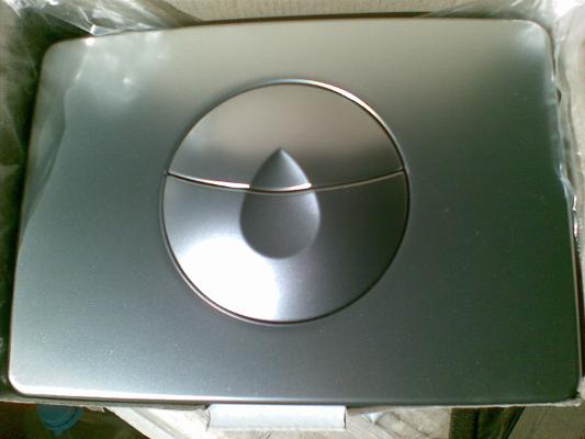Кнопка спускная хромированная матовая (пол.) KOLO IDOL (094035), фото 2
