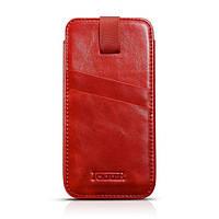 Чехол Icarer Vintage Straight leather case для iPhone 6/6S plus красный, фото 1