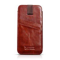 Чехол Icarer Vintage Straight leather case для iPhone 6/6S plus коричневый, фото 1