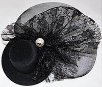 Шляпка с жемчужиной (черная)