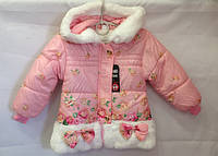 Демисезонные куртки для девочек  оптом 1-3 года