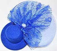Шляпка с жемчужиной (синяя)