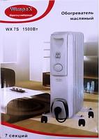 Обогреватель масляный Wimpex HEATER WX 9S, тепловентилятор напольный 9 секций 2000 Вт