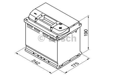 "Аккумулятор BOSCH S4 Silver 60Ah , EN540 , правый ""+"" , ( Bosch 0 092 S40 050 ) 242*175*190 (Д*Ш*В)"