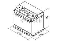 "Аккумулятор BOSCH S4 Silver 60Ah , EN540 , правый ""+"" , ( Bosch 0 092 S40 050 ) 242*175*190 (Д*Ш*В), фото 1"
