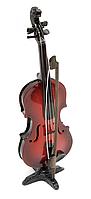 Скрипка деревянная миниатюра