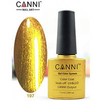 Гель-лак CANNI №197 (золото), 7.3 мл