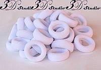 Резинка для волос белая Калуш 3,7 см