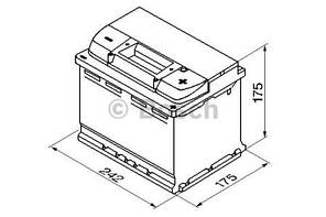 "Аккумулятор BOSCH S5 Silver Plus 61Ah , EN600 , правый ""+"" , ( Bosch 0 092 S50 040 ) 242*175*175(Д*Ш*В)"