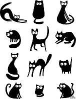 Виниловая наклейка детская (Коты набор) (от 30х25 см)