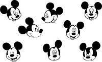 Виниловая наклейка детская (Микки Маус набор) (от 5х20 см)